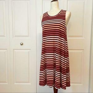 Madewell striped swing dress size XL